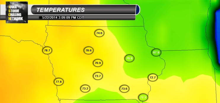 Iowa Thursday Temperatures