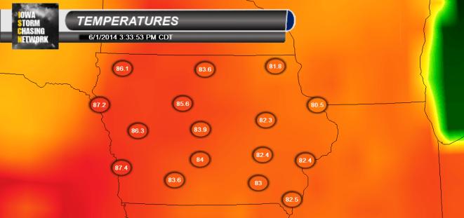 Iowa June 1st Temperatures