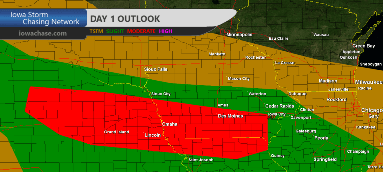 Iowa Moderate Convective outlook