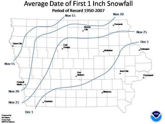 Average 1st Snowfall