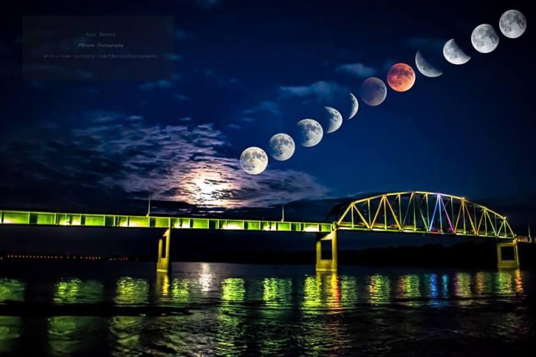 Total Blood Moon Lunar Eclipse Southeast Iowa