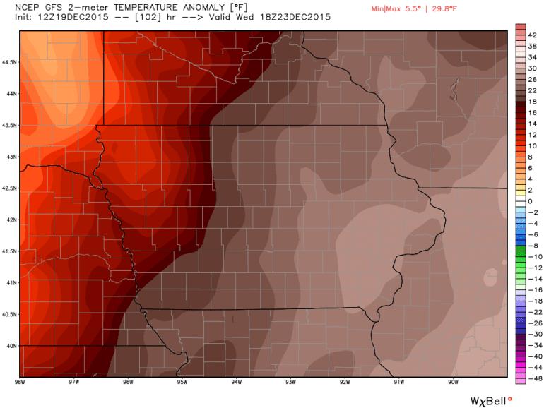 Iowa Temperature Anomaly
