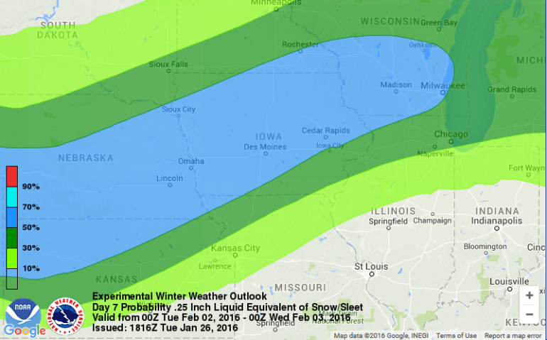 Iowa Weather Prediction Center Outlook