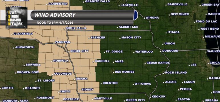 Iowa Wind Advisory