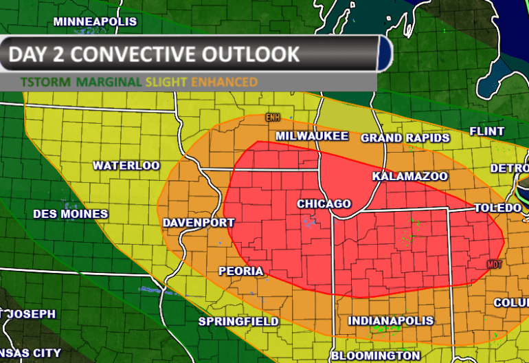 Moderate Severe Weather Outlook
