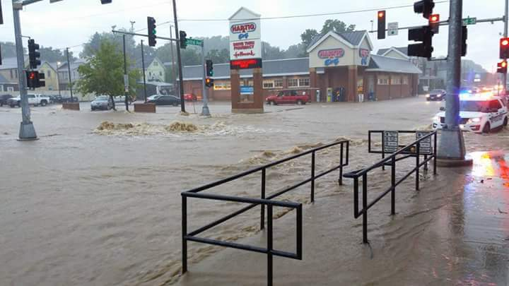 Dubuque Iowa Flash Flooding