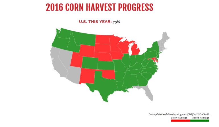 2016 Corn Harvest Progress