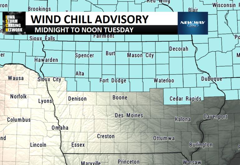 Iowa Wind Chill Advisory