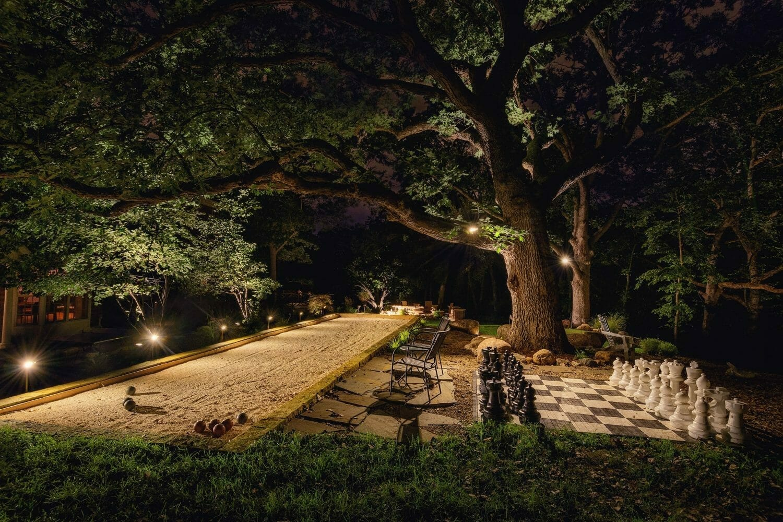 landscape lighting design des moines iowa