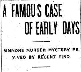 1905 headline from the Waterloo Daily Reporter