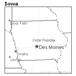 Des Moines, Iowa map - Iowa Unsolved Murders: Historic Cases