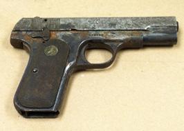 Henry Chavis's gun (photo taken by Nancy Bowers)