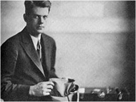 Leonard Keeler with his lie detector.