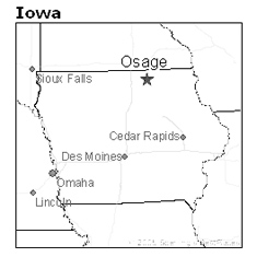 location of Osage, Iowa