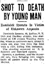 Sposeto's first name was spelled variously (Des Moines Daily News)