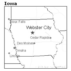 location of Webster City, Iowa