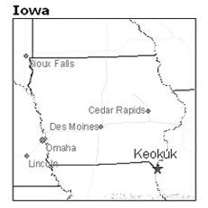 location of Keokuk, Iowa