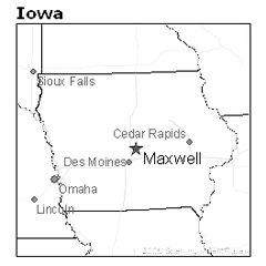 location of Maxwell, Iowa