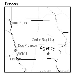location of Agency, Iowa