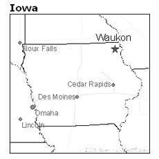 location of Waukon, Iowa