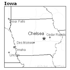 location of Chelsea, Iowa