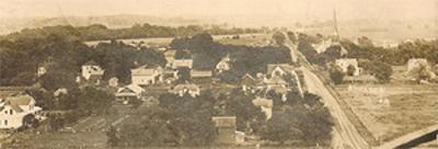 Postcard view of Chelsea, Iowa