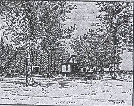 "The Bennett house, sketch by ""Smith,"""