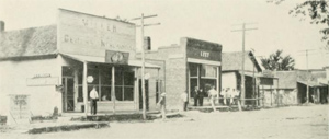 early  view of Unionville, Iowa (History Appanoose County)