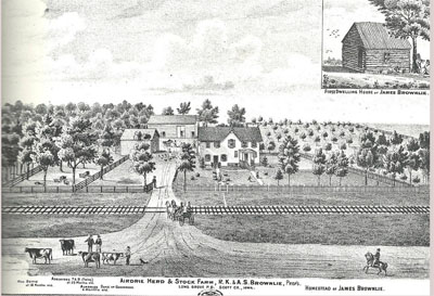 James Brownlie home and farm (from 1875)