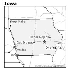 Location of Guernsey, Iowa