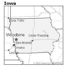 location of Woodbine, Iowa