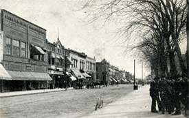Ed Hughes kept an office on Mason City's Main Street.