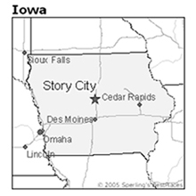 location of Story City, Iowa