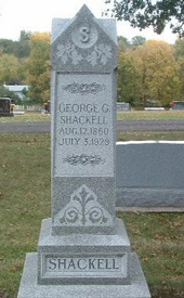 George Shackell's tombstone