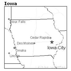 location of Iowa City, Iowa