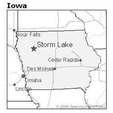 location of Storm Lake, Iowa