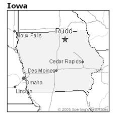location of Rudd, Iowa