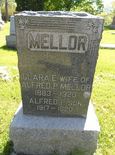 Mellor tombstone