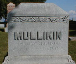 William Mullikin's tombstone