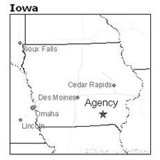 location of Agency, Iowa