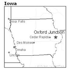 location of Oxford Junction, Iowa