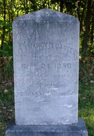 Casteel tombstone, photo by Squeekie