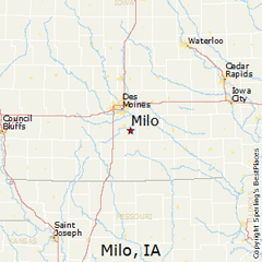 Location of Milo, Iowa
