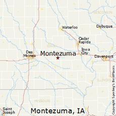 Location of Montezuma, Iowa