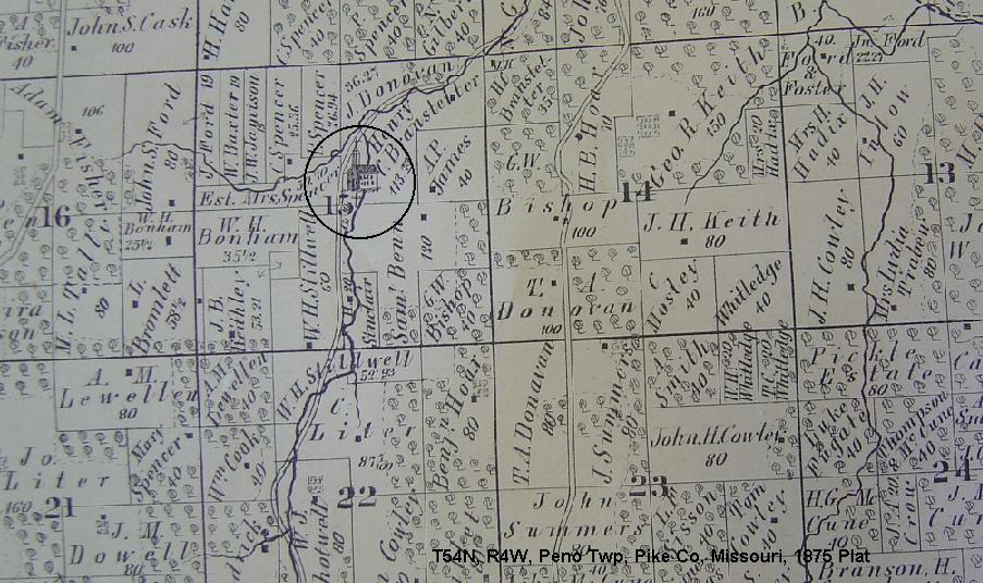 Map Plat County Ralls Mo