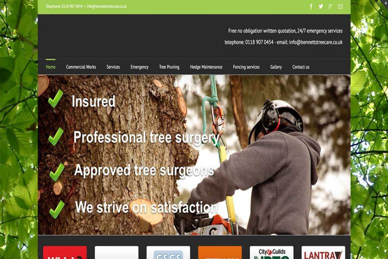 Bennetts-Tree-Care-Website-Project