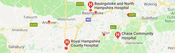 Hospitals in Hampshire
