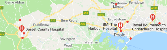 Hospitals in Dorset