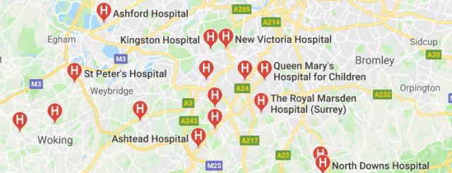 Hospitals in Surrey