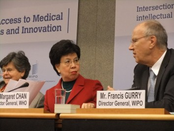 WHO Director General Margaret Chan and WIPO Director General Francis Gurry.